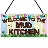 XLD Store Welcome Mud Kitchen Home School Garden Outdoor Hanging Plaque Plot Gift Sign