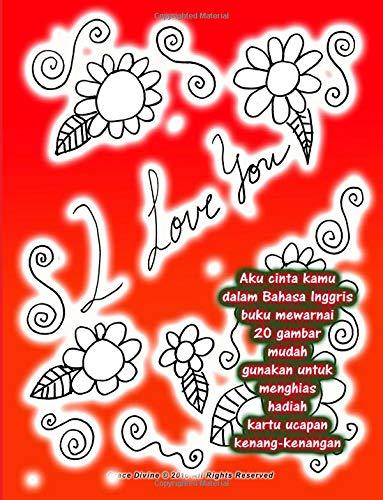 Amazon Com Aku Cinta Kamu Dalam Bahasa Inggris Buku Mewarnai 20