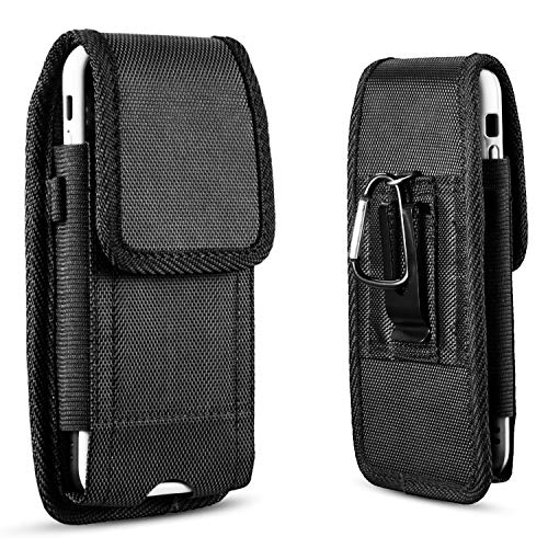 (suily Universal Metal Belt Clip Holster Protective Waist Pouch Vertical Flip Cover for iPhone 6/7/8 Plus(Fit for 5.5'Smartphones))