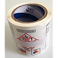 NEW GHS Chemical Label OSHA HMIS NFPA Diamond Label Safety Sign Decal 7.5x4, 100/roll