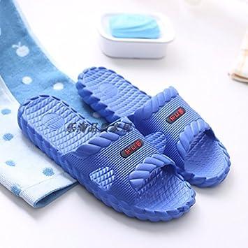 CWJDTXD Zapatillas de verano Zapatillas hombre verano ultra ligero antideslizante fondo suave baño luz espuma hogar luz interior hotel zapatillas de baño, ...