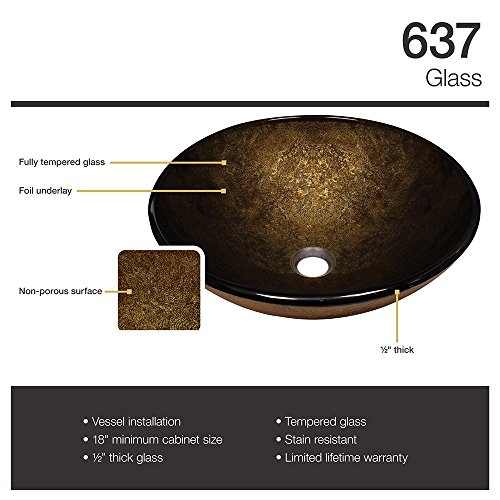 637 Foil Undertone Glass Vessel Sink by MR Direct (Image #2)