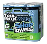 Sellars 54416 ToolBox Shop Towels 6-Pack, 11'' Length x 9.4'' Width, Blue (4 Packs of 6 Rolls, 60 Sheets per Roll)