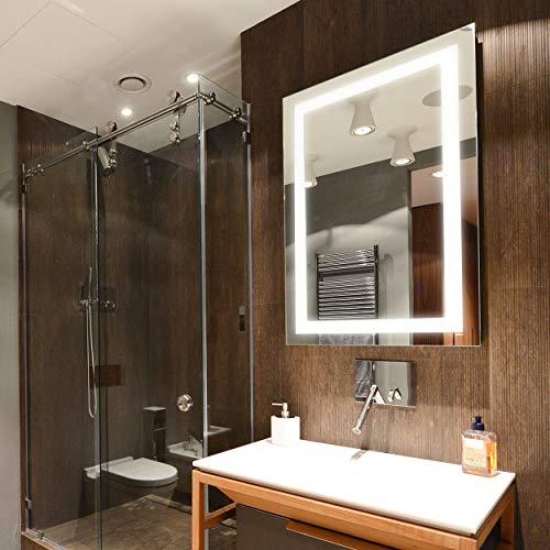 Dyconn Faucet Edison Tri-Color Horizontal/Vertical Wall Mounted Backlit Vanity Bathroom LED Mirror -
