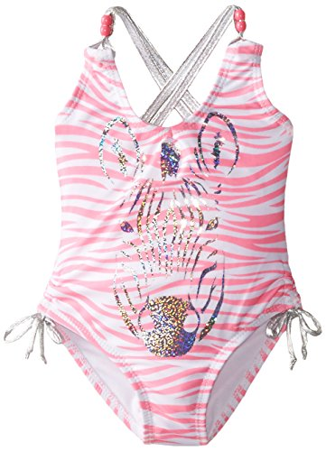 Jantzen Little Girls' Toddler 1 Piece Zebra Print Swimsuit, Print, (Jantzen 2 Piece)
