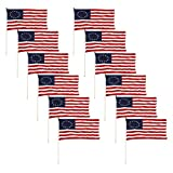 Cheap Betsy Ross stick flag 12×18 inch (12 PK)