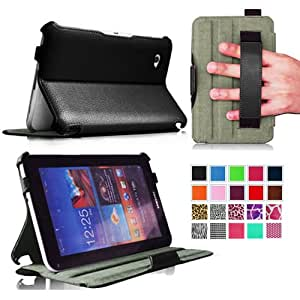 Fintie ClickBook Series Folio Hardback Case with Built-in Stand for Samsung Galaxy Tab 7.0 Plus / Tab 2 7.0 inch Tablet - Black