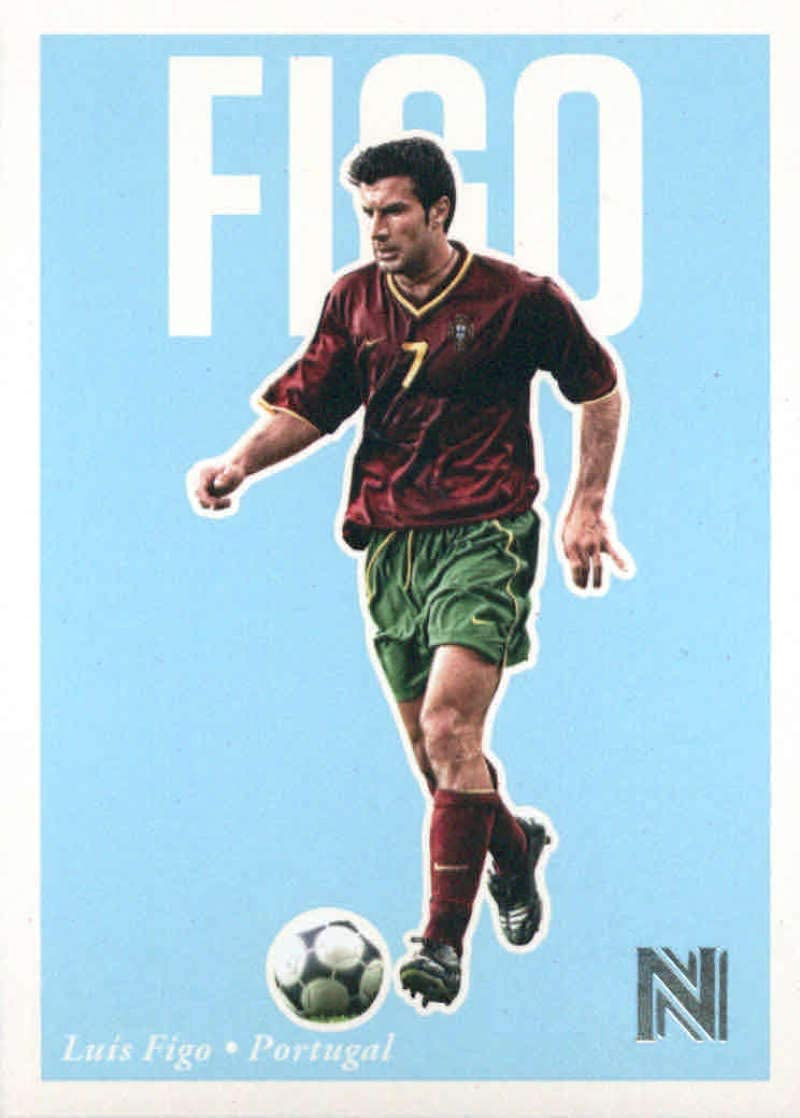 Portugal 2017 Panini nobleza héroes nacionales #10 Tarjeta de fútbol Luis Figo