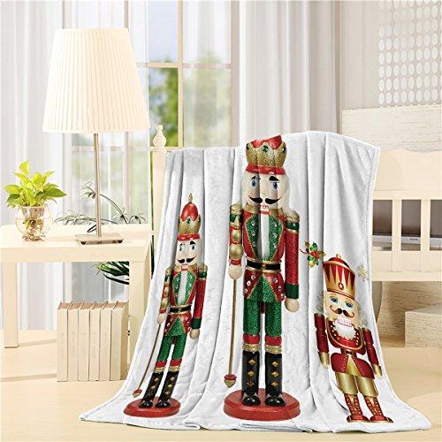 Nutcracker Blanket - Flannel Fleece Throw Blankets for Bed/Couch Soft Warm Fuzzy Plush Microfiber All-Season Lightweight Sofa Chair Throws (Throw 50x60inch) Nutcracker Doll Soldiers