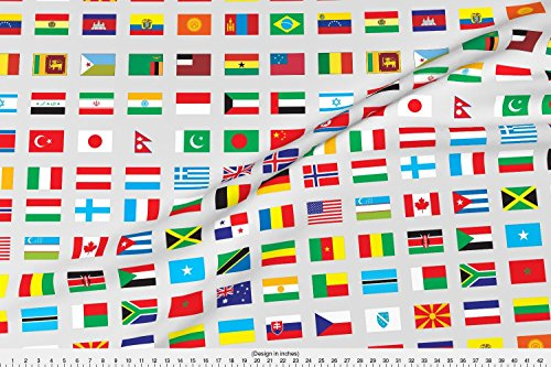 Spoonflower Flags Fabric Modern Flags Of The World by Afterm