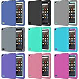 Coohole Kid Shockproof Protective Cover Case for Amazon Kindle Fire 7 2015 Tablet (gray)