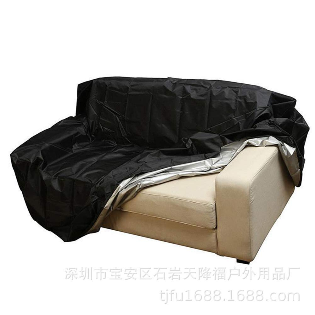 Patio Furniture Cover, Deep Seat Cover, Patio Bench Loveseat Cover, Weather Resistant Sofa Cover(HZC394) (Four Seat 74.8'' Lx26 Wx35 H)