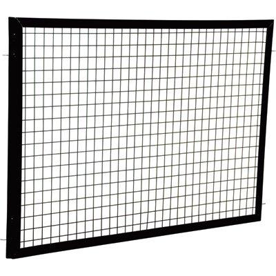 Vestil APG-M-35 Steel Adjustable Perimeter Guard Panel, 3'' x 5', Black
