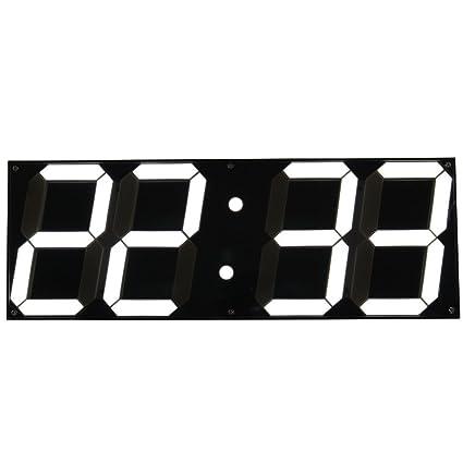 Home Decor Led Digital 3d Wall Clock Electronic Digit Alarm Clocks Remote Control Table Watch Home Decor Wall Clock Black Shell Eu Plug In Short Supply