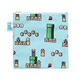 Bumkins Nintendo Reusable Snack Bag Large, Super Mario 8-Bit Game