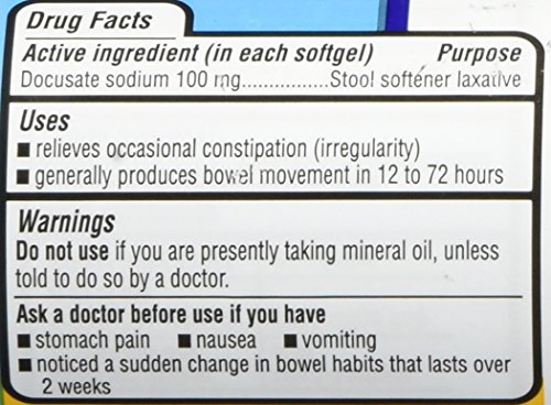 Equate Stool Softener 100 Mg 140 Capsules Compare To
