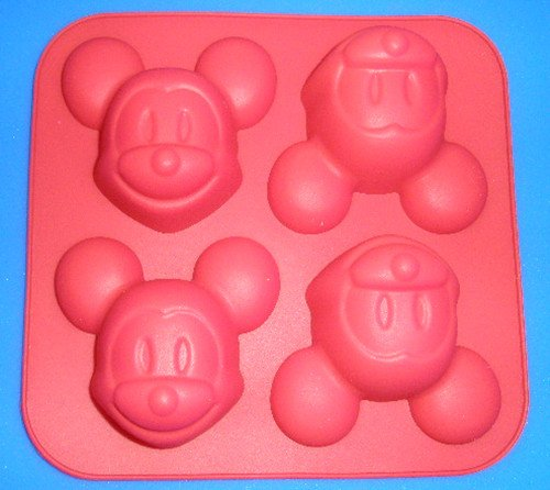 Creativemoldstore 1pcs 4-Mickey Mouse(HY1-027) Silicone Cake/Jelly/Pudding Baking Pan DIY Mold -