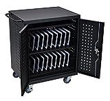 LUXOR LLTM42-B Computer Tablet, Charging Cart, 42'', Black