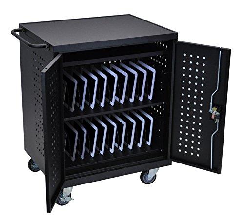 LUXOR LLTM42-B Computer Tablet, Charging Cart, 42'', Black by Luxor