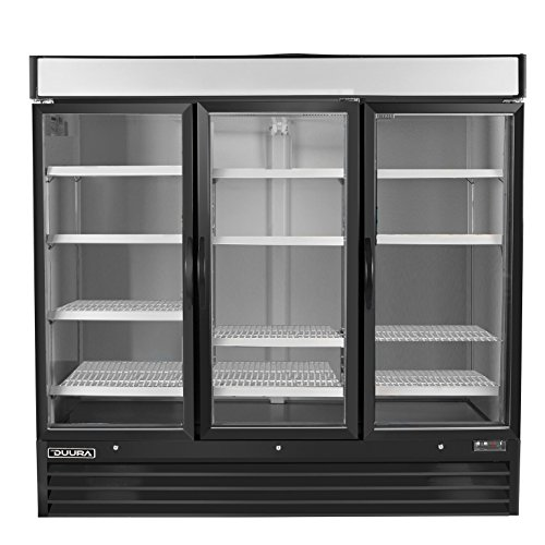 DUURA DGMB72F X-Series Glass Door Merchandiser Freezer Black (Discontinued by Manufacturer)
