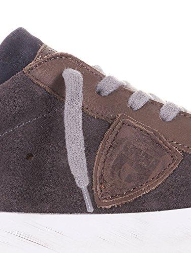 Philippe Model - Botas de senderismo de ante para hombre marrón marrón