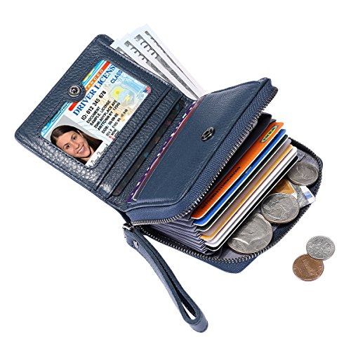 Itslife Women's Leather Multi Functional Compact Wallet Card Holder by ITSLIFE (Image #7)