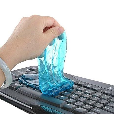Magia Elsley limpiador del teclado suave Gel de sílice ortodental limpia pegamento adhesivo PC del coche polvo limpiador quitapolvo fairisle teclado ...