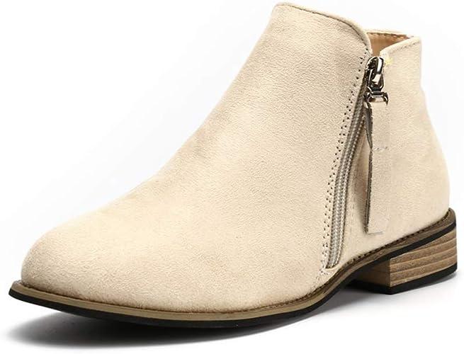 Chelsea Boots Women Flat Heeled Block