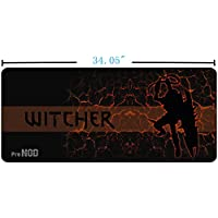 PRONOD Extended Non-Slip Waterproof Gaming Mouse Pad - XXL Large, Stitched Edges, Speed Silky Smooth Surface - (34.05x12.8x0.12)