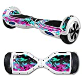 MightySkins Protective Vinyl Skin Decal for Hover Board Self Balancing Scooter mini 2 wheel x1 razor wrap cover sticker Leaf Splatter