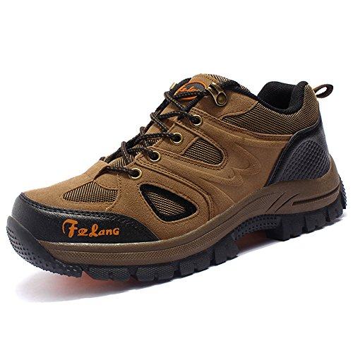 Unisex - Erwachsene Wanderschuhe Trekking Schuhe Wasserdicht Atmungsaktiv Veloursleder Bequeme Outdoor Hiking Sneaker kR91C