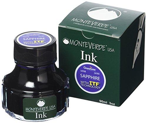 MONTEVERDE Bottle Ink, 90ml, Sapphire (G308SA) by Monteverde (Image #2)