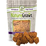 Nature Gnaws Smoked Salmon Jerky Bites (8 oz) - 100% Natural Omega 3 Grain-Free Dog Treats - Great for a Healthy Snack