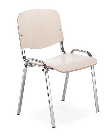 Besucherstuhl NEU Schalenstühle 2er Set schwarz Stapelstuhl Wartezimmer Stuhl