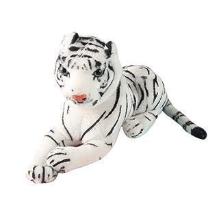 Toyvian Tigre Peluche Peluche Tigre Animale Decorazione della casa per Bambini (Bianco)
