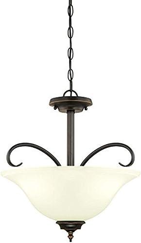 Westinghouse Lighting 6304400 Harwell Three-Light Indoor Convertible Pendant/Semi-Flush Ceiling Fixture