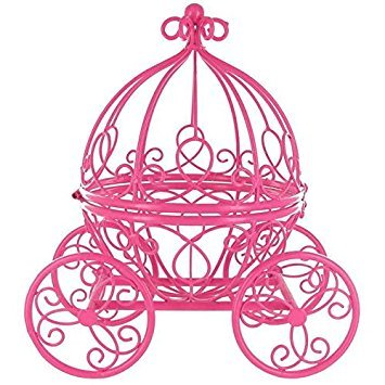 Hot Pink Princess Carriage Metal Table Top (Halloween Carriage)