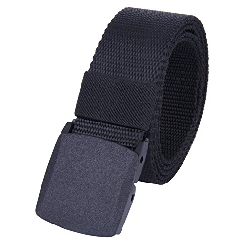 ROFIFY Mens Nylon Canvas Military Tactical Style Belt Plastic Buckle Web Belts 53
