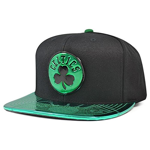 0f156506cfa Amazon.com   Mitchell   Ness Boston Celtics Team Standard Snapback NBA  Adjustable Hat - Black