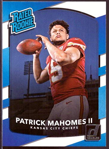 (2017 Donruss Rated Rookie Patrick Mahomes II Rookie Card Kansas City Chiefs #327 in Protective Screwdown Case)
