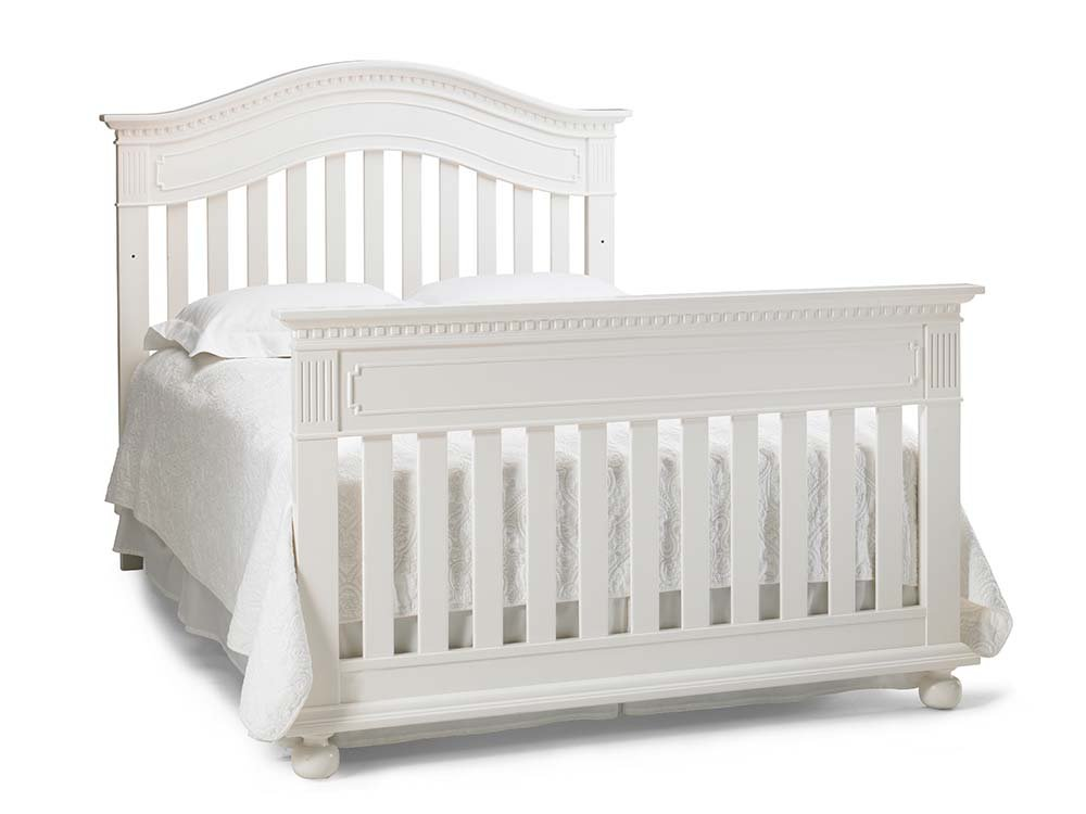 Full Size Conversion Kit Bed Rails for Dolce Babi Naples Crib - Snow White NAP199930-01