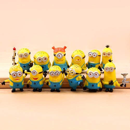 Bossel Cute 12pcs Set of Despicable Me 2 Minions Movie Chara