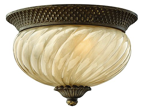 Hinkley 2128PZ Traditional Two Light Flush Mount from Plantation collection in -