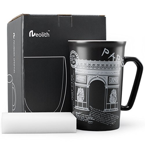 De Paris Mugs - Neolith France Mug Paris Mug Interesting Finds Funny Mug Gifts Paris Poster Black and White Coffee Cup Gift Coffee Mug Creative Coffee Mug for Women and Men (13.5 oz, The Arc de Triomphe)