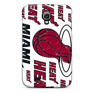 Protective Hard Phone Case For Samsung Galaxy S4 With Unique Design Fashion Miami Heat Skin CharlesPoirier