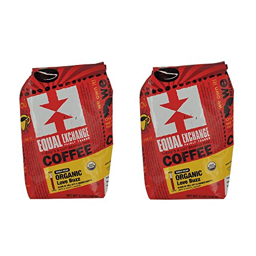 Equal Exchange Love Buzz Blend Organic Coffee Bean, 12-Ounce Packages (Pack of 2) by Equal Exchange (Image #1)