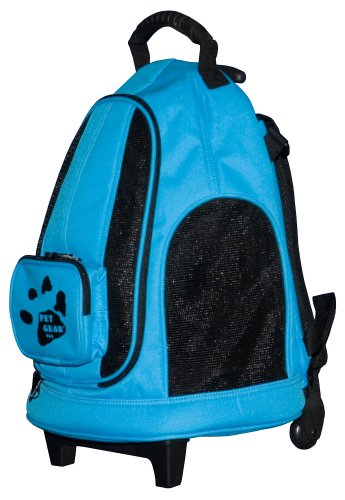 Pet Gear I-GO2 Day Tripper Rolling Pet Backpack for cats and dogs up to 7-pounds, Ocean Blue, My Pet Supplies