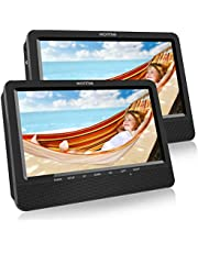 """WONNIE 10.1"""" Reproductor de DVD Portátil con 2 Pantallas para Reposacabeza de Coche para Niños en Viaje Compatible con Tarjeta SD y USB"""