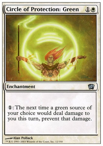 Magic: the Gathering - Circle of Protection: Green - Eighth Edition