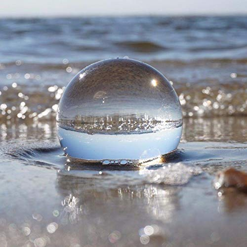 XQXCL Clear Glass Crystal Ball Decor Healing Sphere Photography Props Lensball Gift